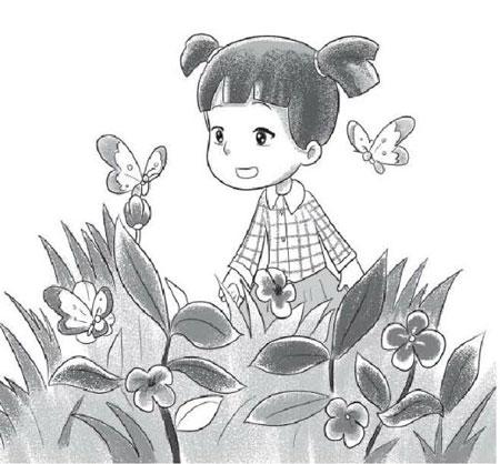 看图写话观察蝴蝶带拼音(2篇)