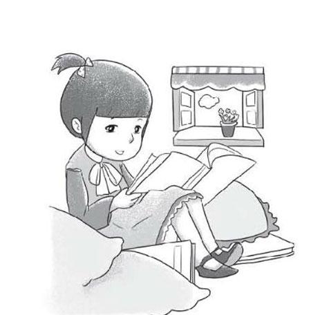 看书看图写话(带拼音)