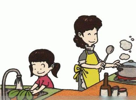 洗菜看图写话(带拼音)
