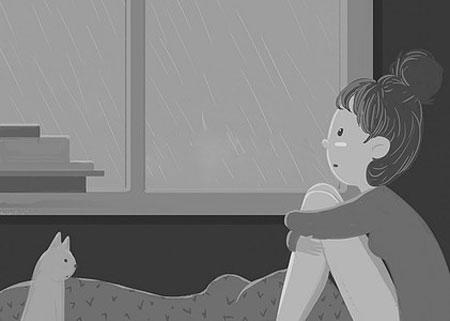 下雨了看图写话(带拼音)
